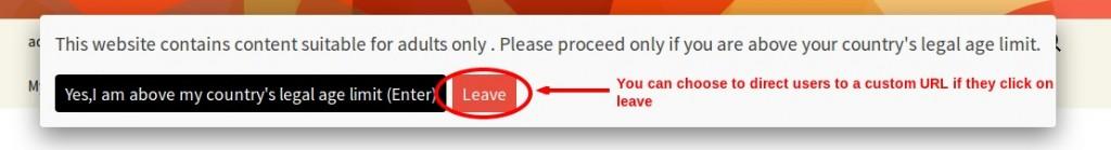 Setting custom URL on leave