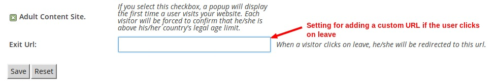 leave settings for the age popup