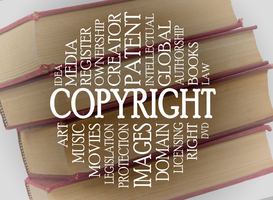 Copyright word cloud concept