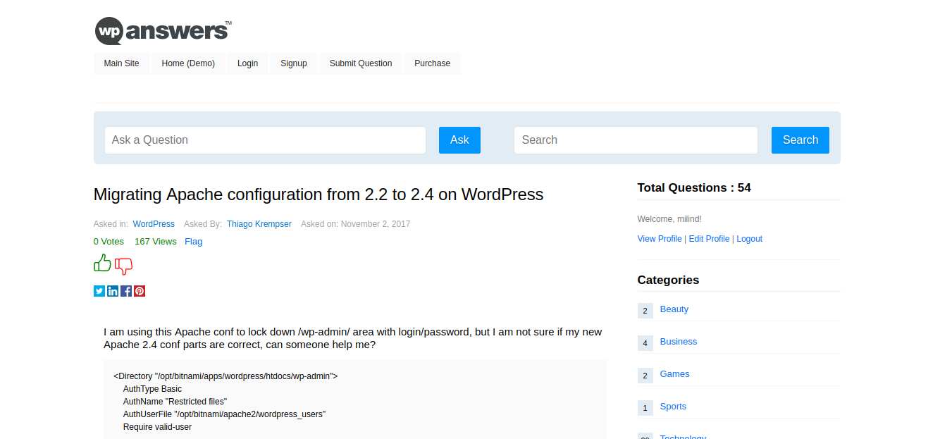 WordPress Question and Answer Plugin