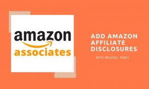 add amazon affiliate disclosures