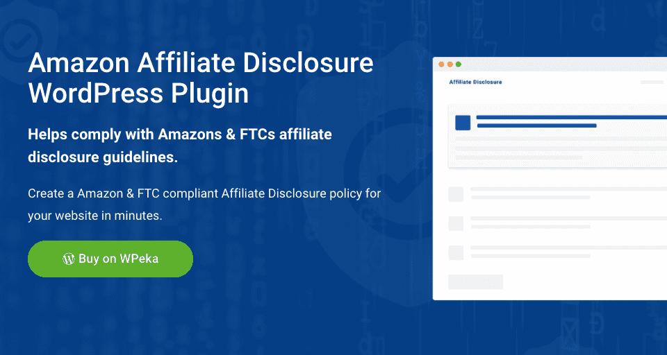 Amazon Affiliate Disclosure Plugin