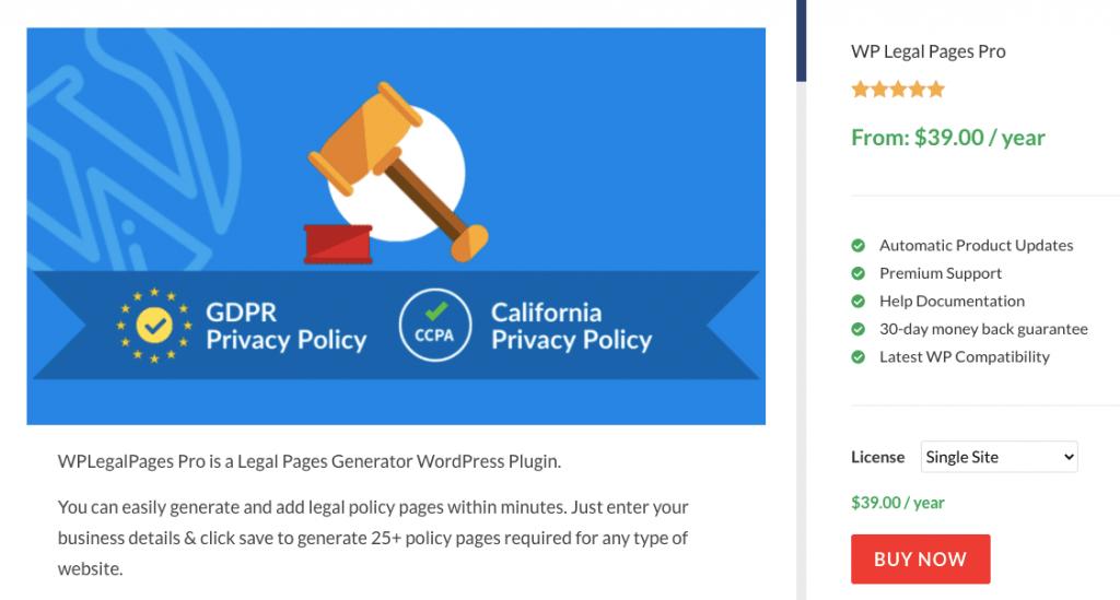 WP Legal Pages Pro